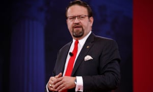 Former White House deputy assistant Sebastian Gorka speaks at the Conservative Political Action Conference (CPAC) at National Harbor, Maryland, on 24 February.