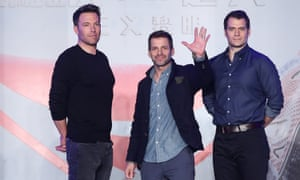 """""""Batman v Superman: Dawn Of Justice"""" Beijing Press Conference<br>BEIJING, CHINA - MARCH 11:  (CHINA OUT) (L-R) American director and actor Ben Affleck, American director Zack Snyder and British actor Henry Cavill attend a press conference as part of the new movie """"Batman v Superman: Dawn of Justice"""" global tour on March 11, 2016 in Beijing, China.  (Photo by ChinaFotoPress/ChinaFotoPress via Getty Images)"""