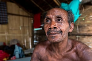 Johan Tahun, one of the oldest men in the village.