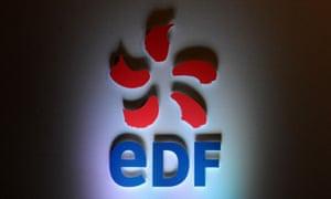 EDF logo in shadows