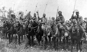 Indian cavalry after their charge, Somme, France, First World War, 14 July 1916, (c1920). (The Swarthmore Press Ltd, London, c1920). (Photo by The Print Collector/Print Collector/Getty Images)