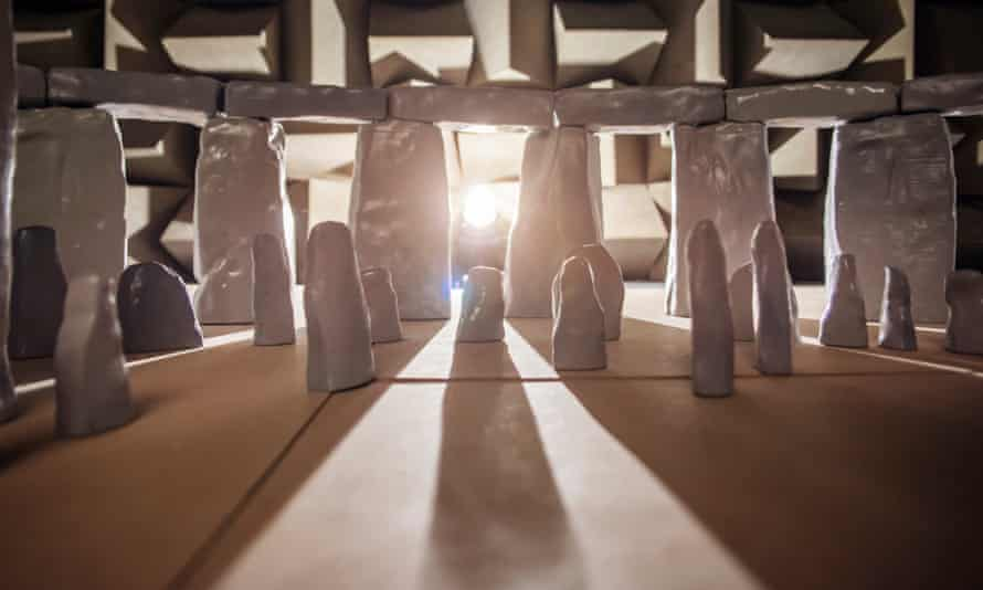 The 1/12th scale model of Stonehenge.
