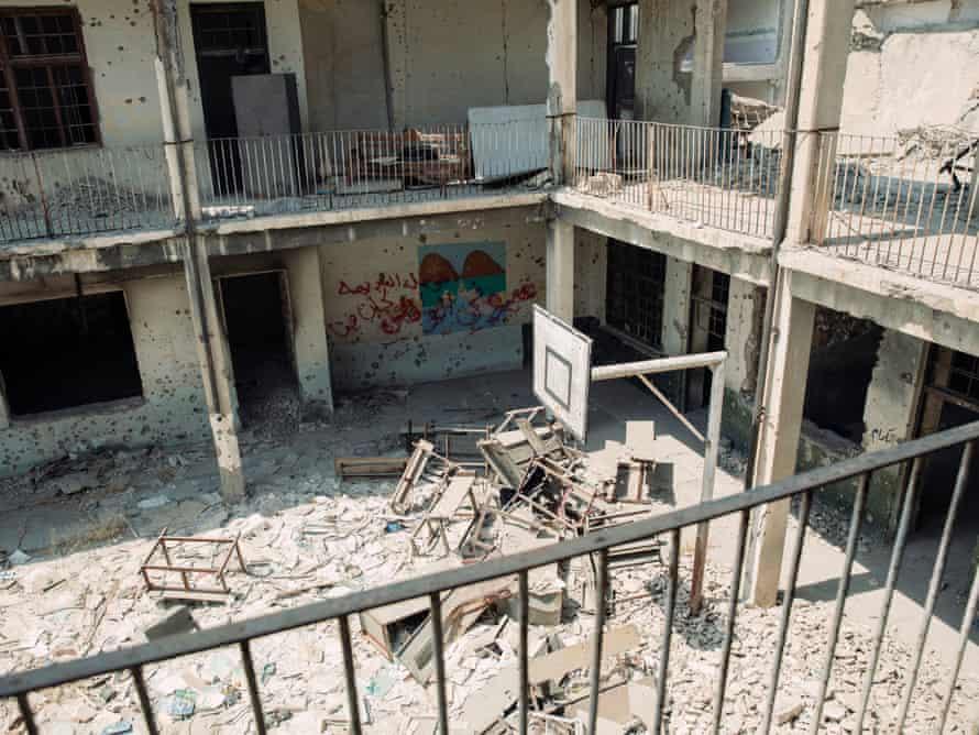 Remains of Al-Ekhlas primary school, Mosul