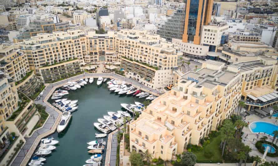 Yachts at Portomaso marina in Valletta
