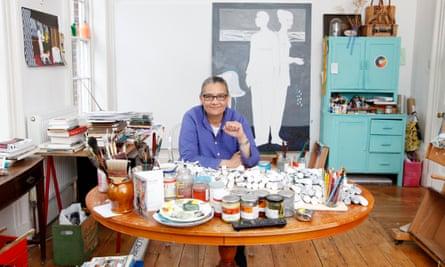 Turner prize nominee Lubaina Himid in her studio in Preston.