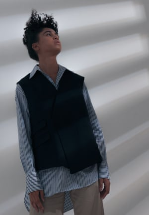 Shirt, £417, waistcoat, £1,028, and trousers, £575, by Deveaux New York. Styling: Melanie Wilkinson. Hair: Shukeel Murtaza at Frank using Bumble and bumble. Makeup: Alexis Day at Premier using Niod and Mavala. Stylist's assistant: Peter Bevan. Model: Cindy at Milk. Getty Images. Photography David Newby