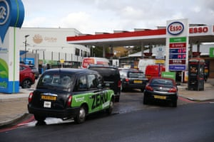 A petrol station in London today