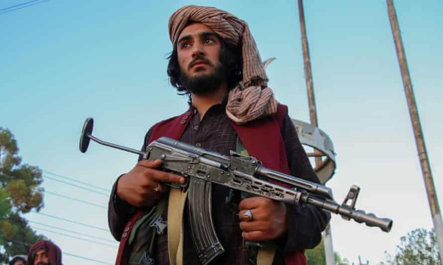 A Taliban patrol in Kabul, 28 September 2021