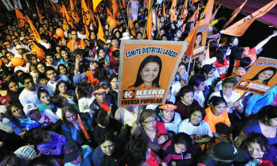 Keiko Fujimori's campaign event in Trujillo, Peru.