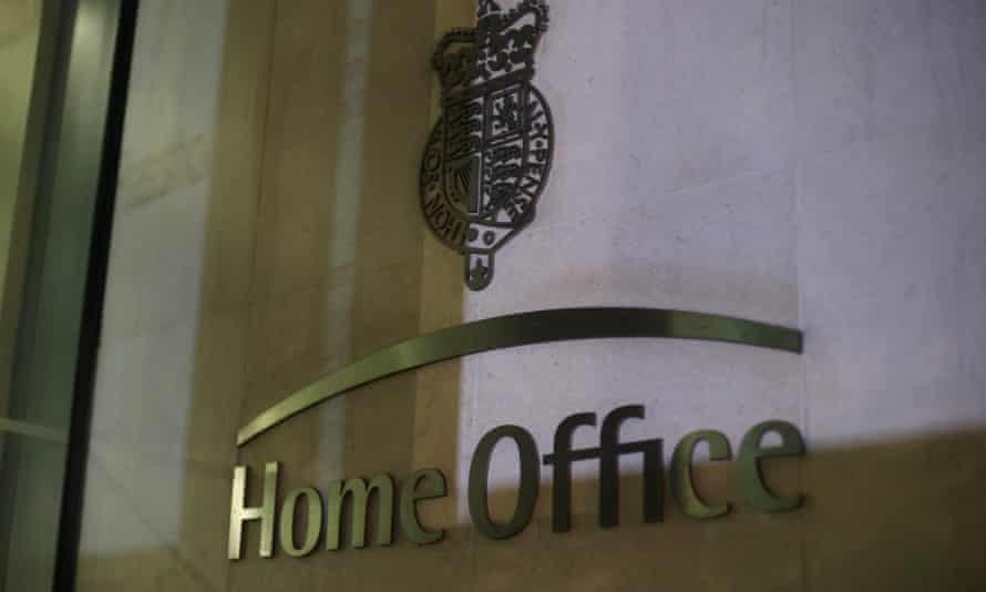 The sign outside the Home Office in Westminster