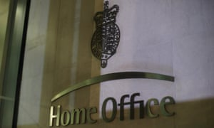 The sign outside the Home Office in Westminster, London.
