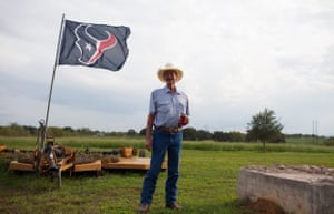 Gary Henderson, pictured at his 160 acre ranch in Gonzales, is one of many Trump supporters in Texas.
