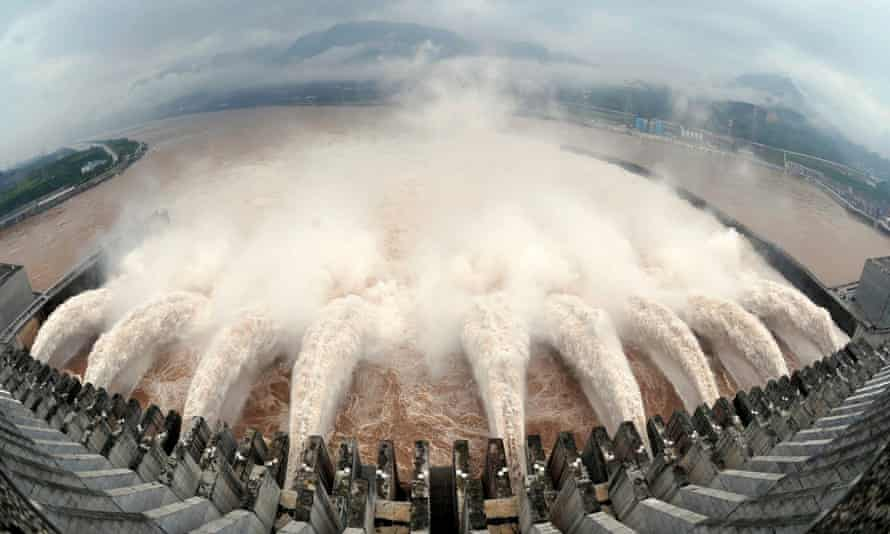 The Three Gorges Dam in Yichang, Hubei, China