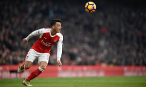 Mesut Özil in action for Arsenal against Burnley. After an impressive start to the season, the playmaker has again drifted to the periphery in matches.