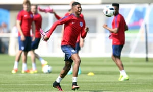 Marcus Rashford, the youngest player at the tournament at 18.