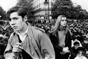French students protest in Paris on 11 April 68