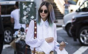 Mermaid hair at New York fashion week last September