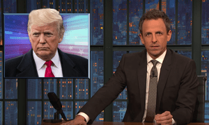 Seth Meyers: 'Trump has made up a fake terror attack in Sweden, claimed Germany was captive to Russia and said Paris just doesn't exist anymore.'