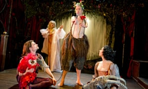 Jonny Dixon, Julie Atlas Muz, Mat Fraser and Jess Mabel Jones in Beauty and the Beast at the Young Vic in 2013.
