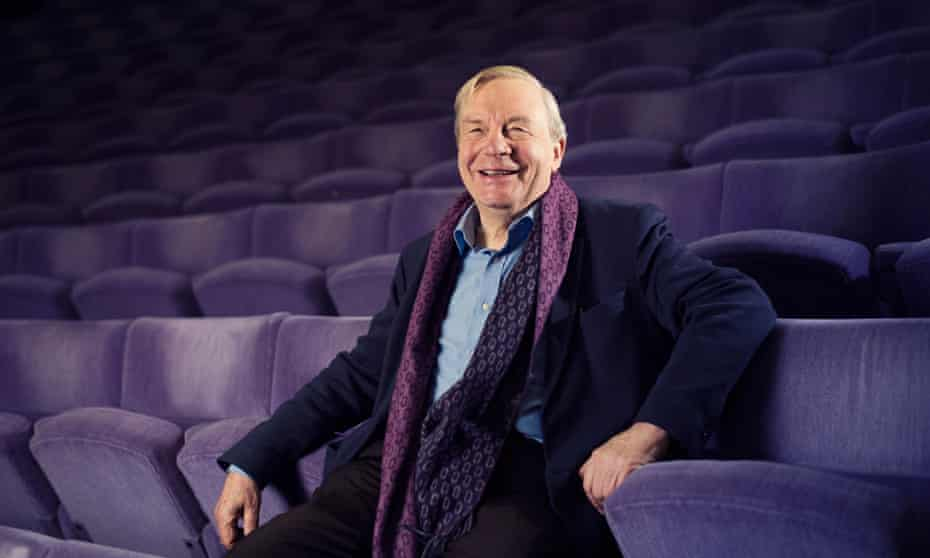 Michael Billington, the Guardian's outgoing chief theatre critic, photographed at the Olivier at the National Theatre, London