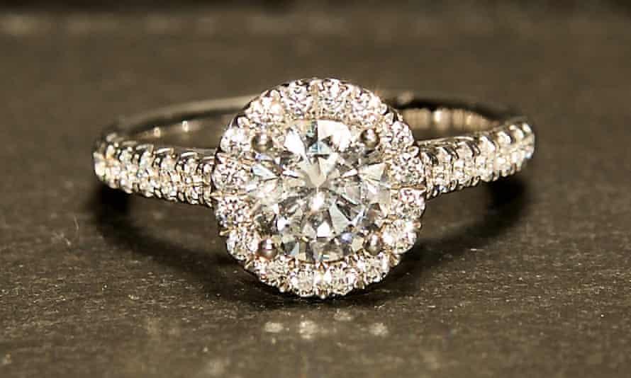 CVD diamond ring