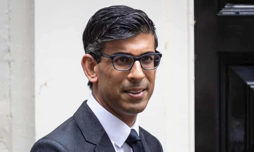 The chancellor of the exchequer, Rishi Sunak, seen in Downing Street, London.