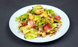 Warm cabbage salad
