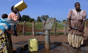 The Playpump was supposed to be an improvement on on old-fashioned pumps like this one in Uganda, but delivered far less water than originally promised.
