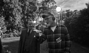 Oldman and Fincher on the set of Mank.