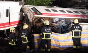 A train travelling from Taipei to Taitung derailed on Monday, killing 18.