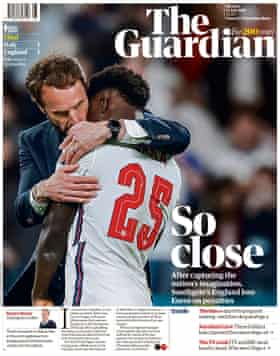 Guardian front page, Monday 12 July 2021