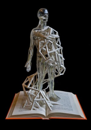 The Invisible Man book sculpture by Stephen Doyle.