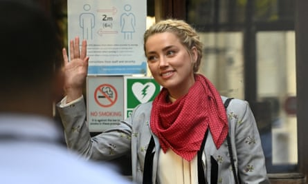 Amber Heard arrives at the high court on Tuesday to testify in Johnny Depp's libel trial against the Sun's publisher, News Group Newspapers.