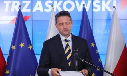 Civic Coalition's presidential candidate, Rafal Trzaskowski