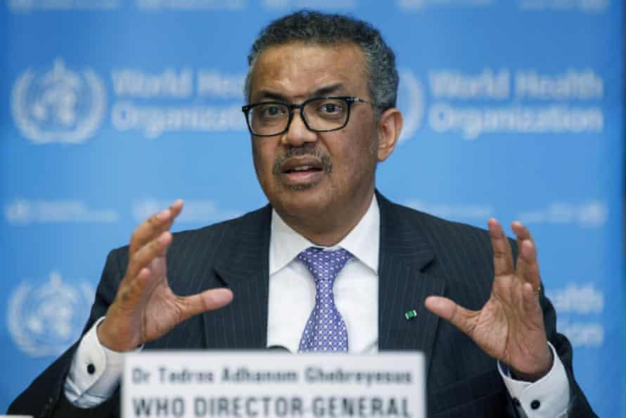 Tedros Adhanom Ghebreyesus, director general of the WHO.