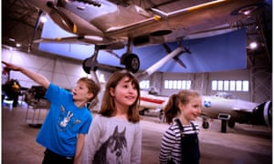 Young visitors at he National Museum of Flight