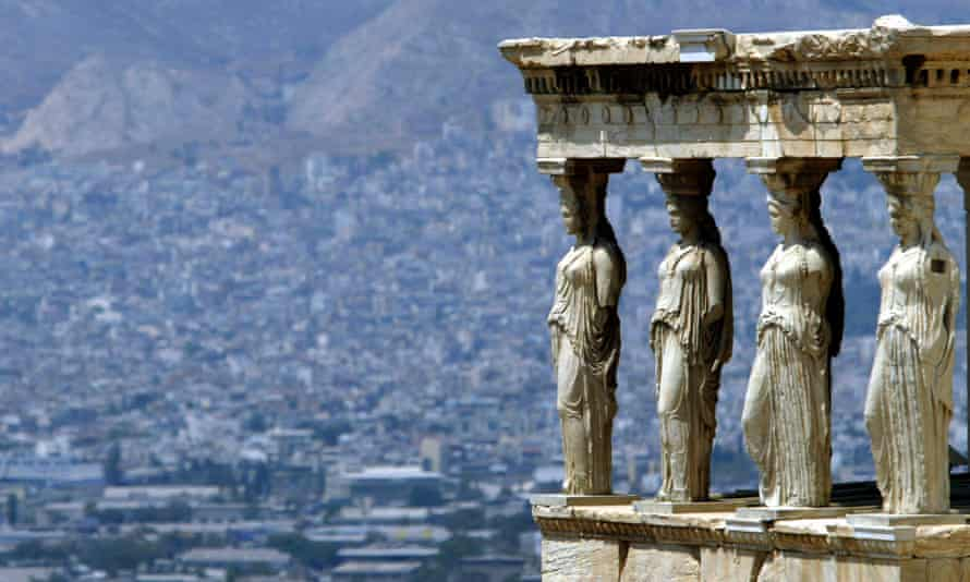 A view of modern Athens from the ancient Acropolis