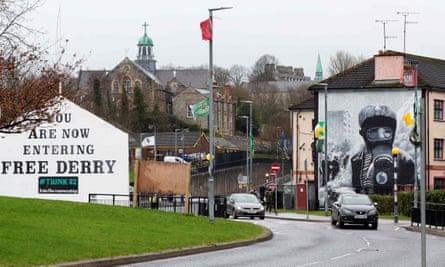 Murals in the Bogside area of Derry, Northern Ireland.
