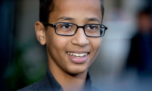 Ahmed Mohamed, the 14-year-old who was arrested at MacArthur high school in Irving, Texas.