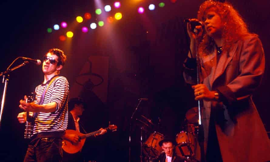 Shane Macgowan of The Pogues with Kirsty MacColl