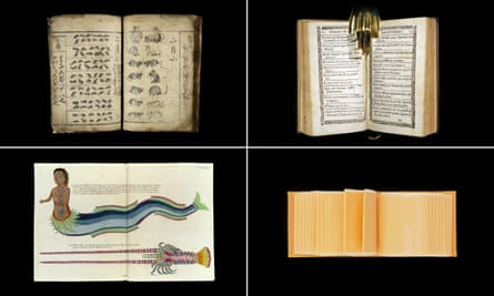 'Down the back alleys of history' … (clockwise from top left) A Manual of Mathematics, La confession coupée, 20 Slices of American Cheese, Poissons, ecrevisses et crabs.