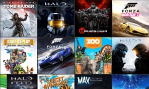 Xbox One's new game collection.