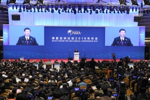 Chinese Ppesident Xi Jinping at the Boao Forum For Asia annual conference