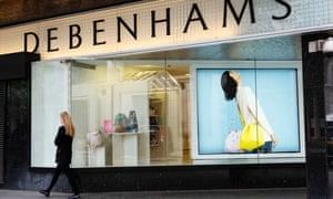 Debenhams on Oxford Street.