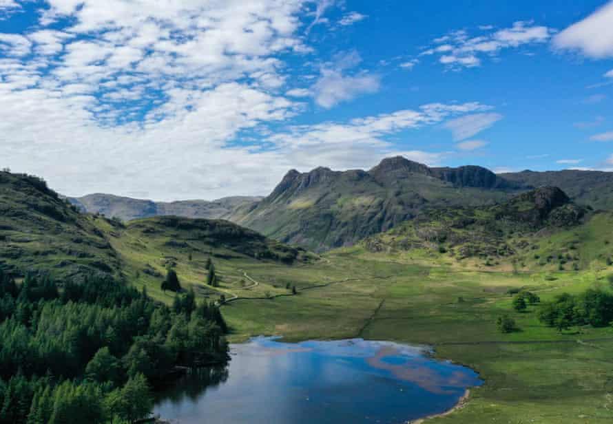 Blea Tarn in the Langdale valley.