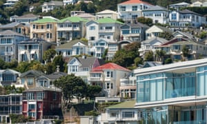 colorful houses in Wellington in New Zealand