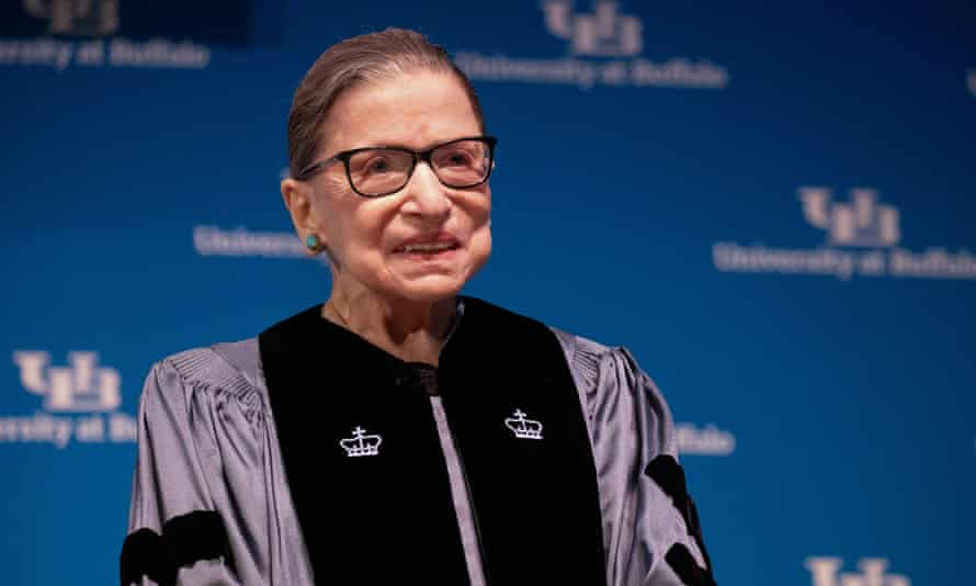 Ruth Bader Ginsburg in August last year. Her health has been closely watched because a supreme court vacancy would give Trump the opportunity to move the court further to the right.