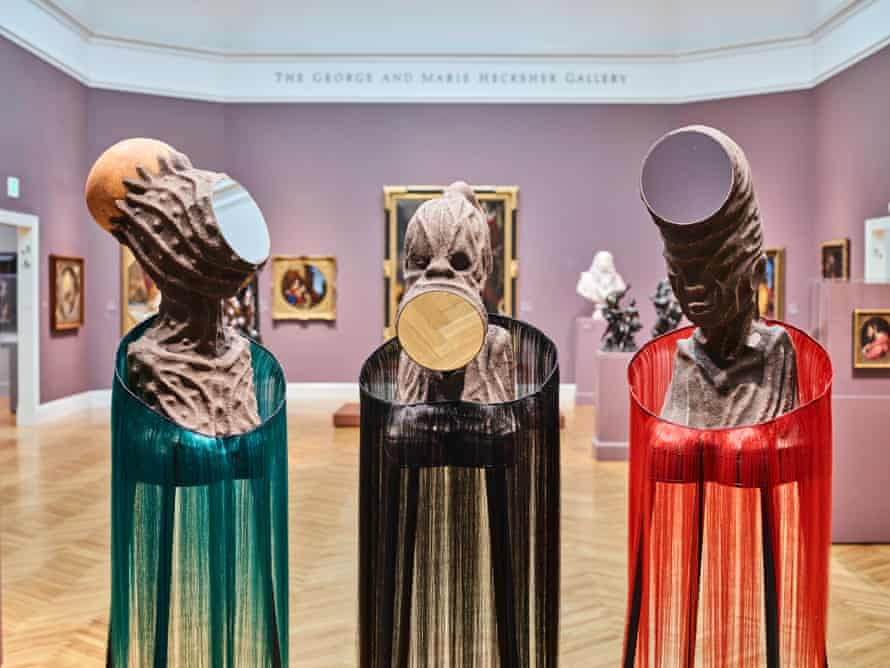 Mutu's exhibition was designed with the San Francisco Legion of Honor in mind.