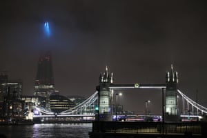 London, UKThe Shard in London, which has been lit up blue in a renewed gesture of thanks to the NHS and frontline workers as the UK brings back it's Clap for Heroes