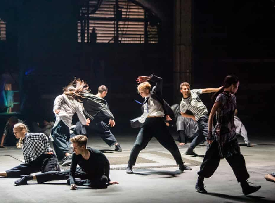 Rambert dancers in a scene from Invisible Cities with choreography by Sidi Larbi Cherkaoui, part of Manchester international festival.